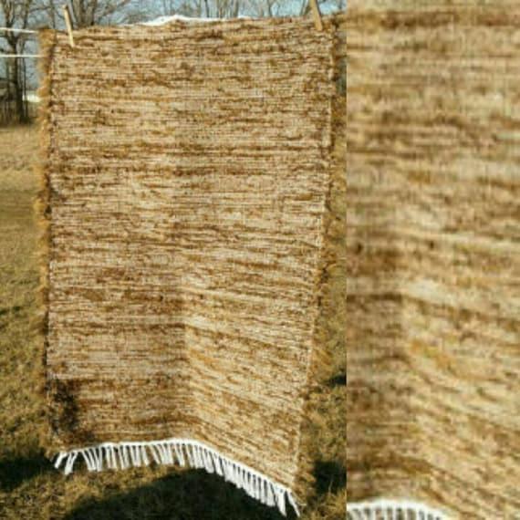 Amish Rag Rug In Nut Brown Cabin Chic Kitchen / Bath Mat