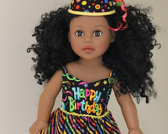 Cheery Birthday dress for your 18 inch doll
