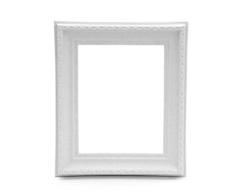 "White Wedding Frame Vintage Shabby Chic 8"" x 10"""