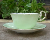 Aynsley Cup of Knowledge ~ Mint Green Fortune Telling Tea Cup Teacup