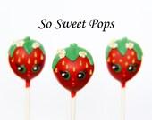 So Sweet Pops Happily Made Strawberry Inspired Cake Pops