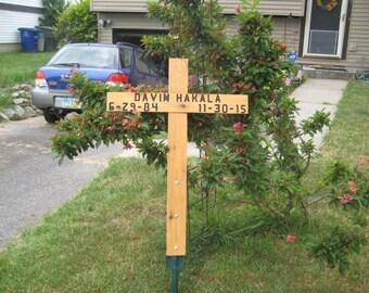 Roadside or Pet Memorial Cross - large size