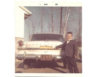 "Vintage Snapshot ""Goldwater in '64"" - Bumper Sticker - Vintage Color Photo - New York State License Plate - 1964 World's Fair - Studebaker"