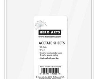 "Hero Arts Acetate Sheets 5""x6"" PS762 Shaker Cards;Scrapbook; Paper Crafting; Card Making"