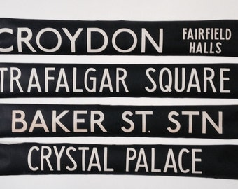 Vintage  London bus blinds.   unframed for easy postage lots of destinations SALE NOW ON!!