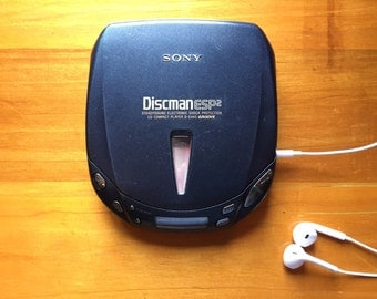 Rare Sony DISCMAN D-E455 Digital Portable CD Player Discman Japan High Quality Audio Sound Line Out Mega Bass ESP 2 Groove Works Free Ship