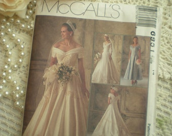 SALE...Vintage Chic Circa 1994 McCalls 6951 Designer Alicyn Exclusives Wedding Gown Size 14 From SincerelyRaven On Etsy
