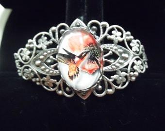 Hummingbird Filigree Cuff Bracelet