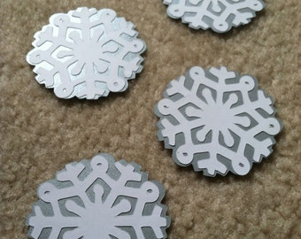 Snowflake Scrapbooking, Snowflake Die Cut, Winter Die Cut, Christmas Scrapbooking, Christmas Embellishments 4 pc