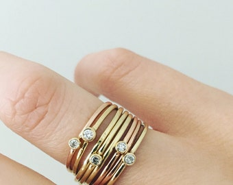 Classic Diamond/Birthstone Ring
