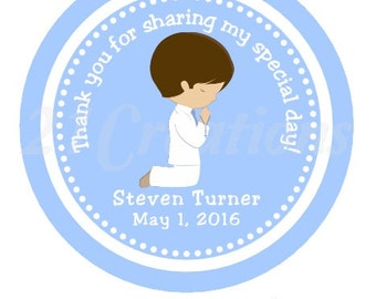 First Communion Stickers for Boy