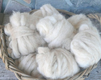 Fire Sale!  Huacaya Alpaca Fawn Highlight roving - All Natural roving!  Next to skin soft