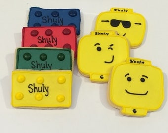 Lego Cookies - Lego Head - Kosher - 1 Dz Includes Individual Bags