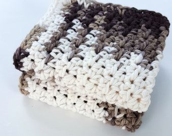 Crochet Dish Cloth Wash Cloth Washcloth Dishcloth Bathroom Spa Cloth Kitchen Dish Rag Set of 2 d