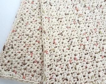 Crochet Washcloth Bathroom Spa Cloth Kitchen Dishcloth Dish Cloth Crochet Dish Rag Wash Cloth Set of 2 d