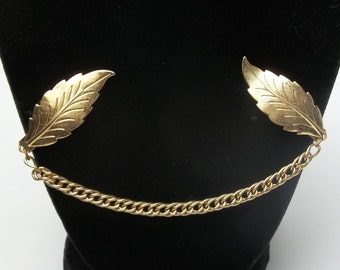 Mid Century 1950's Vintage Gold Leaf and Chain Sweater Clip Gift For Her on Etsy