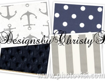 Nautical Diaper Stacker, Gray Anchor