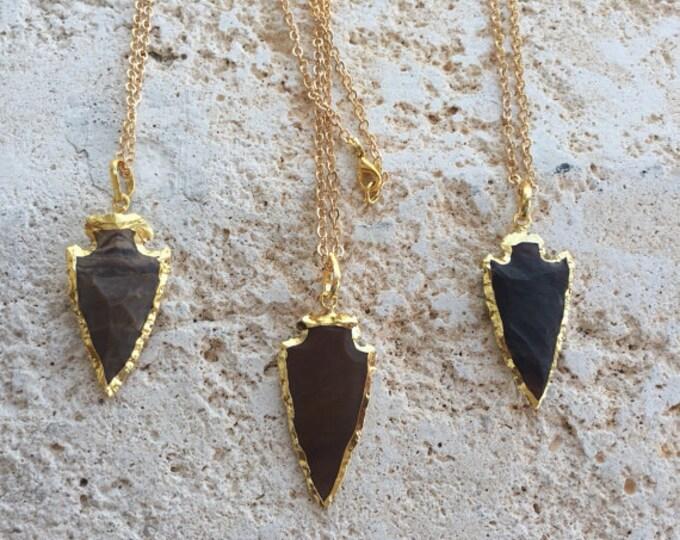 ΔΔΔ 24k Gold Plated Arrowhead Pendant Necklace ΔΔΔ