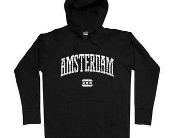 Amsterdam Hoodie - Men S M L XL 2x 3x - Amsterdam Netherlands Hoody, Sweatshirt, Nederland, Dutch, Holland - 4 Colors