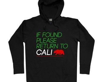 Return to California Hoodie - Men S M L XL 2x 3x - Cali Hoody, Sweatshirt, Golden State, Los Angeles, San Francisco, San Diego - 2 Colors