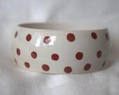 Red-on-White Polka Dot Bracelet