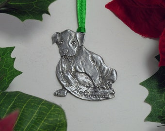 Holiday Puppy Dog Christmas Ornament