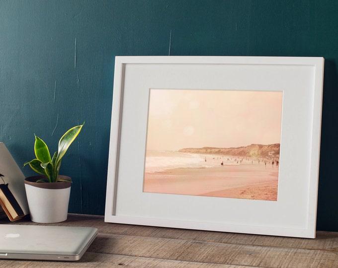 Pink Coastal Landscape, Pacific Ocean at Crystal Cove, Coastal Decor, Beach House Decor,  Nautical Decor, 8x12 10x15 12x18 16x24