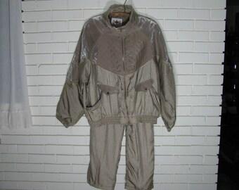 90's GOLD '' Silk '' running suit size XL