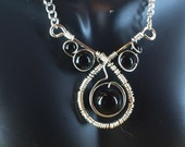Wire Wrapped Onyx necklace