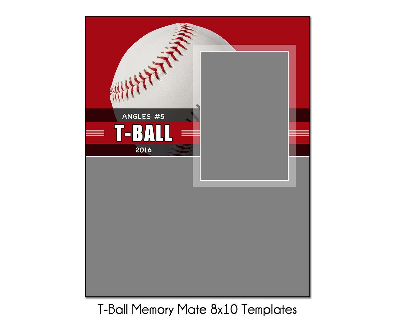 t ball mm1 8x10 memory mate sports photo template digital. Black Bedroom Furniture Sets. Home Design Ideas