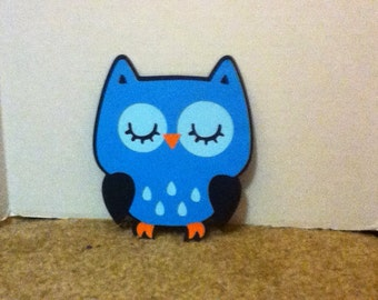 Cute Owl 5 Inch Die Cut Set of Five