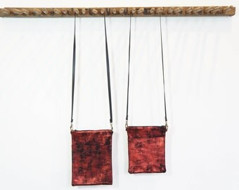 Small Zip Bag - Red and Black - SALE - 50% OFF