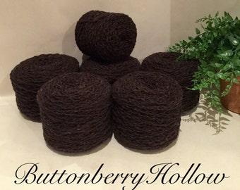 Merino Wool Nylon Blend Brown Reclaimed Recycled Yarn 1585 Yards Sport Lot 540
