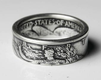 Walking Liberty Coin Ring - Silver (.900)