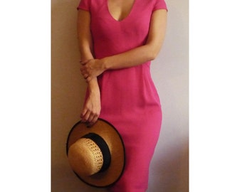 Hot pink pencil DRESS Free Shipping SALE%