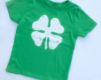 Lucky Charm Shirt for Saint Patrick's Day. Shamrock shirt for little boy or girl. Toddler St. Patty's Shirt with Clover. Distressed Shirt.