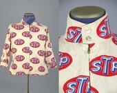 60s STP Logo Artex Jacket Advertising STP Motor OIL Artex Rockabilly Car Coat