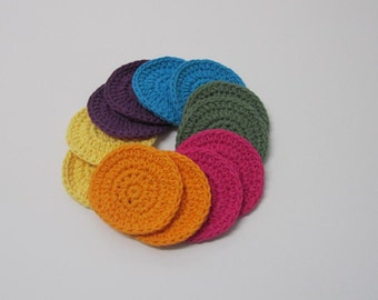 Cotton Face Scrubbies, Face Pads - set of 12