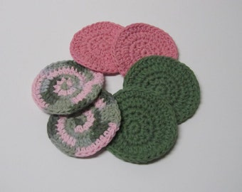 Face Scrubbies, Face Pads - set of 6 - Ready to Ship