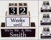 Wedding Countdown, Personalized Wedding Countdown Blocks – Bride Countdown Blocks - Wedding Shower Gift - Countdown Days Until I Do