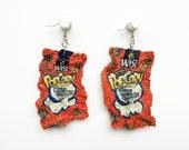 Magically Mini Wise White Cheddar Popcorn Bag Dangle Earrings