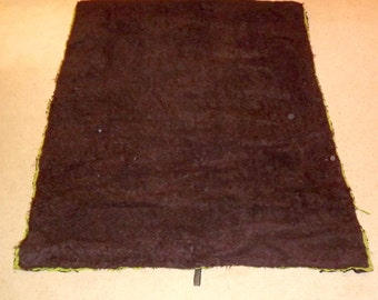 Victorian era, Sleigh Robe, Buffalo fur and boucle wool, large, 55 x 48, museum, display, collector, rug, Bison, cutter, carriage blanket