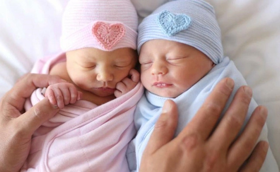Image result for newborn baby girl and boy twins