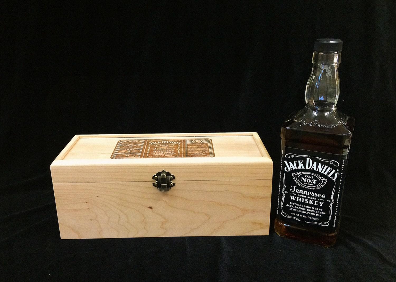 Jack Daniel S Old No 7 Engraved Unfinished Wood Box W