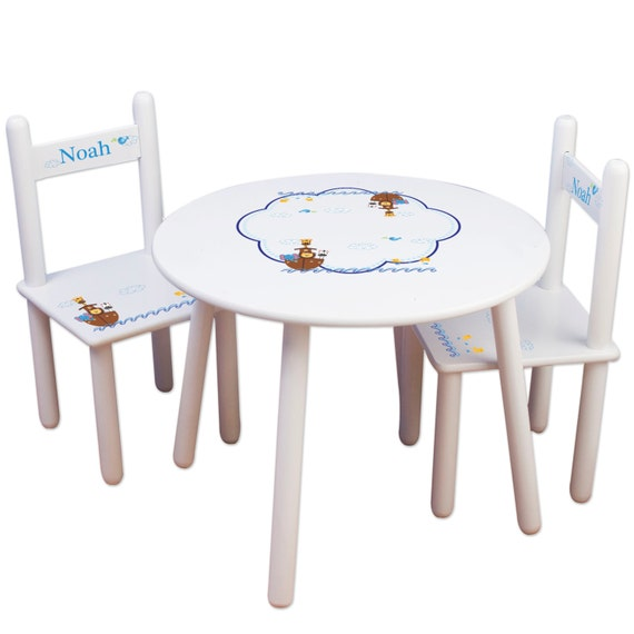 Personalized Child 39 S Table Chair Set With Noahs Ark
