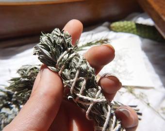 Handmade Artemisia smudge stick / Mugwort / Smudging / Organic / Natural / France