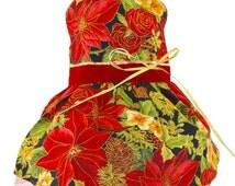Christmas Poinsettia Dog Harness Dress