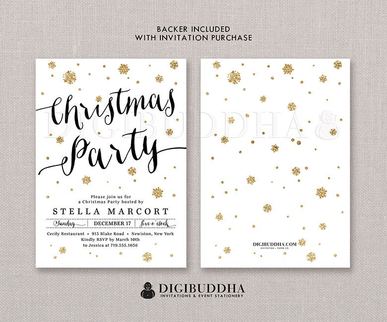 CHRISTMAS PARTY INVITATION Holiday Party Invitation Christmas Party ...