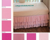 SALE*** 3 Sided, 3 Tiered, Crib Skirt, You Choose the Fabric