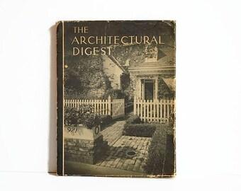 vintage Architectural Digest magazine AD 1940s VOL 11 No 3
